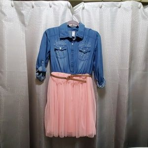 Other - girl justice denim dress size 18/20